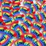 Bomboniere kawaii bambini battesimo - nascita - babyhower - comunione, arcobaleno, personalizzate in fimo