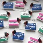 Bomboniere farmaci medicine tocco cappello laurea, personalizzate in fimo, farmacia ctf