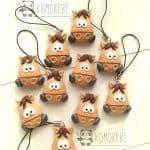 Bomboniere cavallo animali kawaii bambini battesimo - nascita - babyhower - comunione, personalizzate in fimo