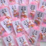 Bomboniere cicogna animali kawaii bambini battesimo - nascita - babyhower, arcobaleno, personalizzate in fimo