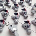 Bomboniere koala animali kawaii laurea, personalizzate in fimo