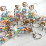 Bomboniere bottigliette vetro nascita - battesimo - comunione - cresima - matrimonio, cuori, arcobaleno, personalizzate in fimo
