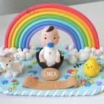 cake topper bambini battesimo - baby shower - compleanno, personalizzato in fimo