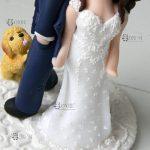 cake topper matrimonio, personalizzato in fimo