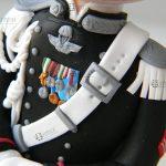 cake topper matrimonio, uniforme carabinieri, personalizzato in fimo