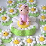 cake topper bambini margherita battesimo - baby shower - compleanno, personalizzato in fimo