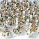 Bomboniere matrimonio, bottigliette vetro, nerd signore degli anelli, personalizzate in fimo