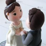 cake topper signore degli anelli matrimonio, nerd, personalizzato in fimo