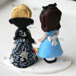 cake topper matrimonio arcobaleno rainbow, nerd, personalizzato in fimo