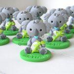 Bomboniere bambini nascita - baby shower - battesimo - compleanno - comunione, koala animali, personalizzate in fimo