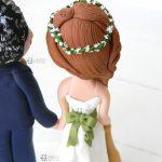 Cake topper sposi matrimonio, baseball, personalizzato in fimo