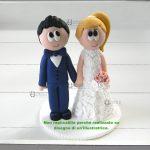 Cake topper sposi matrimonio, personalizzato in fimo