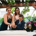 Cake Topper matrimonio rainbow - spose arcobaleno - nerd, personalizzato in fimo