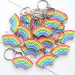 Bomboniere personalizzate in fimo con arcobaleno kawaii per bambini e sposi rainbow - battesimo, compleanno, comunione, cresima, matrimonio