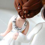 cake topper matrimonio chimica - sposi chimici - personalizzato in fimo
