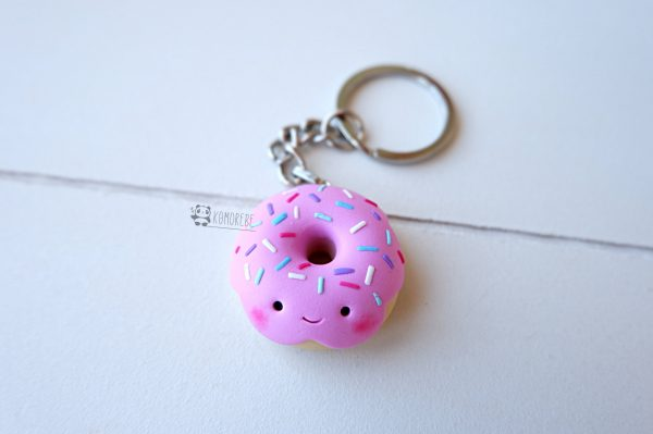 Portachiavi Donut Kawaii