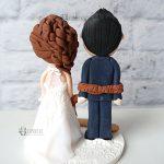 cake topper matrimonio - sposo legato - personalizzato in fimo