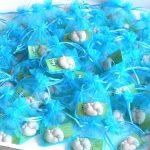 Bomboniere piedini bambini babyshower - nascita - battesimo - compleanno, personalizzate in fimo