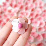 Bomboniere sakura fiori di ciliegio matrimonio - battesimo - comunione - cresima, personalizzate in fimo