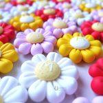Bomboniere kawaii bambini bambino bambina per babyshower - nascita - battesimo - compleanno, margherite, fiori, personalizzate in fimo con iniziale nome