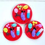 Bomboniere kawaii laurea, statuina, chimica, batteri, virus, tocco cappello laurea, personalizzate in fimo, farmacia, ctf, microbiologia