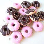 Bomboniere personalizzate in fimo, pasticceria, dolci, ciambelle, donut - battesimo, comunione, cresima, matrimonio
