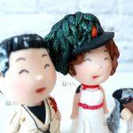 cake topper personalizzato in fimo fatto a mano artigianale - matrimonio, nozze - sposi sposo bersagliere, esercito divisa - statuine torta