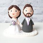 cake topper personalizzato in fimo fatto a mano artigianale - matrimonio, nozze - sposi - statuine torta