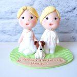 Cake topper fatto a mano artigianale - matrimonio nozze unione civile- spose rainbow, lgbt, gay, lesbiche - statuine torta personalizzato in fimo