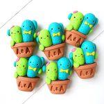 Bomboniere originali personalizzate in fimo con cactus kawaii - succulente, pianta grassa - bambini, gemelli, sposi - battesimo, compleanno, comunione, cresima, matrimonio