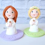 cake topper personalizzato in fimo fatto a mano artigianale, originale e personalizzato, comunione - cresima, bambino bambina
