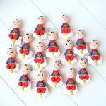 Bomboniere originali baby superman supereroe - bambino babyshower - nascita - battesimo - primo compleanno, personalizzate in fimo