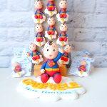 Bomboniere originali baby superman supereroe - bambini babyshower - nascita - battesimo - primo compleanno, personalizzate in fimo