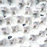 Bomboniere fatte a mano artigianali, dentini denti kawaii, personalizzate in fimo, laurea in odontoiatria, tecnico dentista