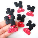 Bomboniere magnete calamita con nome fatte a mano, artigianali, personalizzate in fimo, numero 2 decorato compleanno bambino bambina