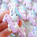 Bomboniere magneti fatte a mano artigianali, unicorno magico kawaii con numero 1, personalizzate in fimo con nome, nascita bambina - battesimo - comunione - primo compleanno - arcobaleno